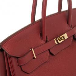 Hermes Rouge Garance Birkin Clemence 40 CM