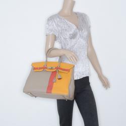 Hermes Tri-Color Casaque Leather Birkin Bag