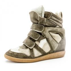Isabel Marant Beige Bekett Wedge Sneakers Size 37