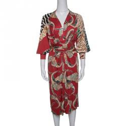 Issa Multicolor Tie-front Maxi Dress