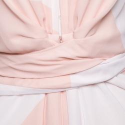 Issa Pollyanna Multicolor Printed Chiffon Maxi Dress S