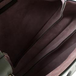 حقيبة كتف ج.و. انديرسون بيرس جلد وسويدي خضراء داكنة