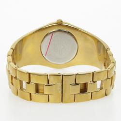 Jacques Lemans Vedette 1-1478 Gold Plated Stainless Steel Quartz Womens Wristwatch 34 MM