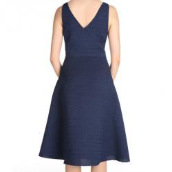 Jason Wu Navy Silk Sleeveless Dress M