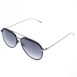 Jimmy Choo Black/Silver Gradient Reto Aviator Sunglasses