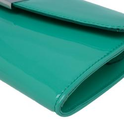 Jimmy Choo Turquoise Patent Riane Clutch