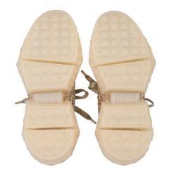 Jimmy Choo Gold Leather Diamond Sneakers Size EU 38