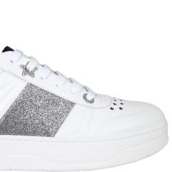 "Jimmy Choo White Leather ""Hawai"" Sneakers Size EU 38.5"