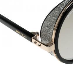 Jimmy Choo Black/Gold Mirror J7QM3 Andie Round Sunglasses
