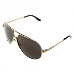 Jimmy Choo Gold/Black Benny Aviator Sunglasses