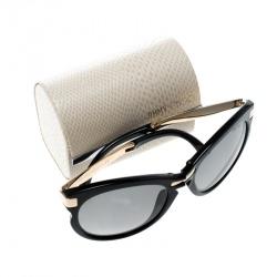 Jimmy Choo Black/Black Gradient Lana Foldable Cat Eye Sunglasses