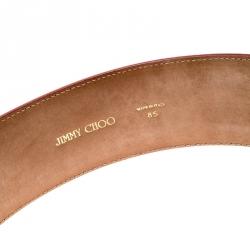 Jimmy Choo Coral Leather Waist Belt 85CM
