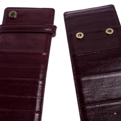 Jimmy Choo Purple Leather BLY Waist Belt 103CM