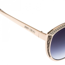 Jimmy Choo Leather Embossed/ Grey Gradient DOMI/S Cat Eye Sunglasses
