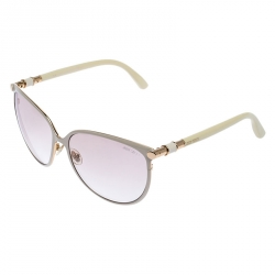 Jimmy Choo Off White Juliet Oversize Sunglasses
