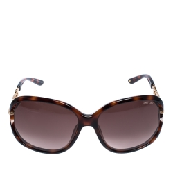 Jimmy Choo Brown Tortoise Gradient Oversize Sunglasses