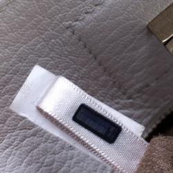 Jimmy Choo White Leather Medium Riley Tote