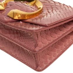 Jimmy Choo Pink Python Leather Madeline Shoulder Bag