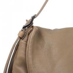 Jimmy Choo Beige Leather Large Biker Saddle Chain Crossbody Bag