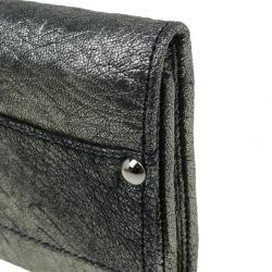Jimmy Choo Bronze Leather Ubai Clutch