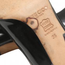 Jimmy Choo Black Patent Leather Pumps Size 36