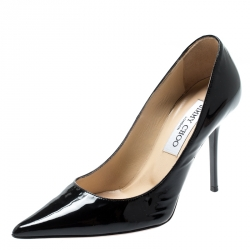 14ad60b52 Jimmy Choo Black Patent Leather Romy Pointed Toe Pumps Size 35