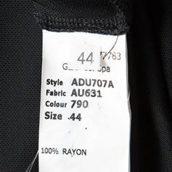 John Galliano Black Knit Loop Neck Detail Draped Sleeveless Maxi Dress M