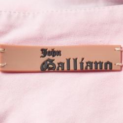 John Galliano Dull Pink Cotton Pencil Skirt L