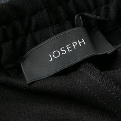 Joseph Black Stretch Crepe Elasticized Waist Shorts S