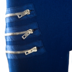 Joseph Indigo Zip Detail Diamond Gabradine Stretch Jeggings M
