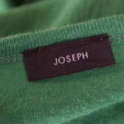 Joseph Green Linen V-Neck Belted Top L