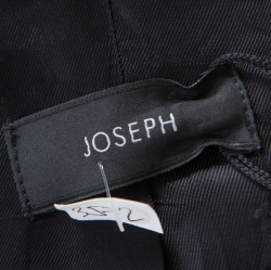 Joseph Black Wool Satin Lapel One Button Phillipe Couture Blazer L