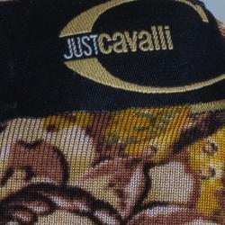 Just Cavalli Scarf Print Stretch Top M