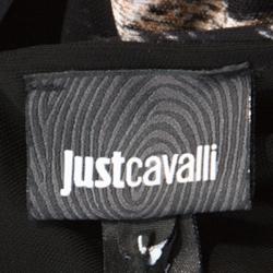 Just Cavalli Beige Leopard Print Sleeveless Maxi Dress L