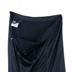 Just Cavalli Black Satin Fishtail Maxi Skirt S
