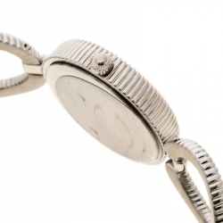 Just Cavalli Silver White Silver Tone Crystal Studded R725122515 Women's Wristwatch 30 mm