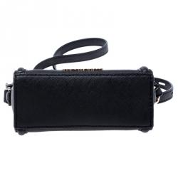 Karl Lagerfeld Black Saffiano Leather Micro K KLASSIK Crossbody Bag