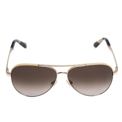 Kate Spade Gold/Brown Gradient Amarissa Aviator Sunglasses