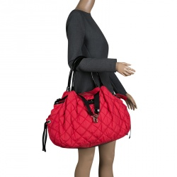 f5a27e46cc80 Kate Spade Red Quilted Nylon Stevie Satchel