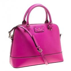 Kate Spade Pink Leather Wellesley Rachelle Satchel
