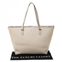 Kate Spade Grey Leather Harmony Tote
