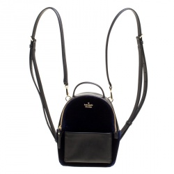 30c6159360fc ... Monogram Canvas Palm Springs Backpack MM Bag · Louis Vuitton. Backpacks.  3380. Kate Spade Black Blue Leather and Velvet Mini Watson Lane Merry  Backpack