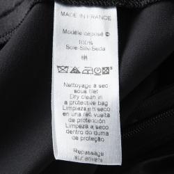 Kenzo Black High Waist Tie Detail Silk Maxi Skirt S