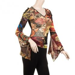 Kenzo Patterned Multicolored Long Sleeve Shirt S