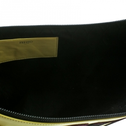 Kenzo Yellow Leather Oversize Forever No Clutch