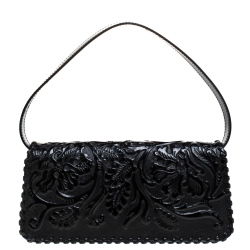 Kenzo Black Patent Leather Pochette Bag