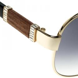Korloff Gold/Black Gradient KOR2032 Aviator Sunglasses