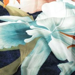 Lanvin Multicolor Floral Printed Silk Satin Square Scarf