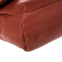 Lanvin Marron Leather Happy Shoulder Bag