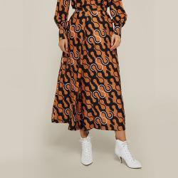 LAYEUR Brown Mae Printed Cotton-Silk Culottes FR 46